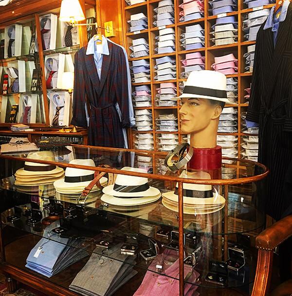 Hats & Shirts Display in Harrogate Shop