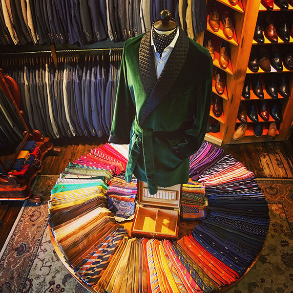 Tie Wheel Display in the Harrogate Shop