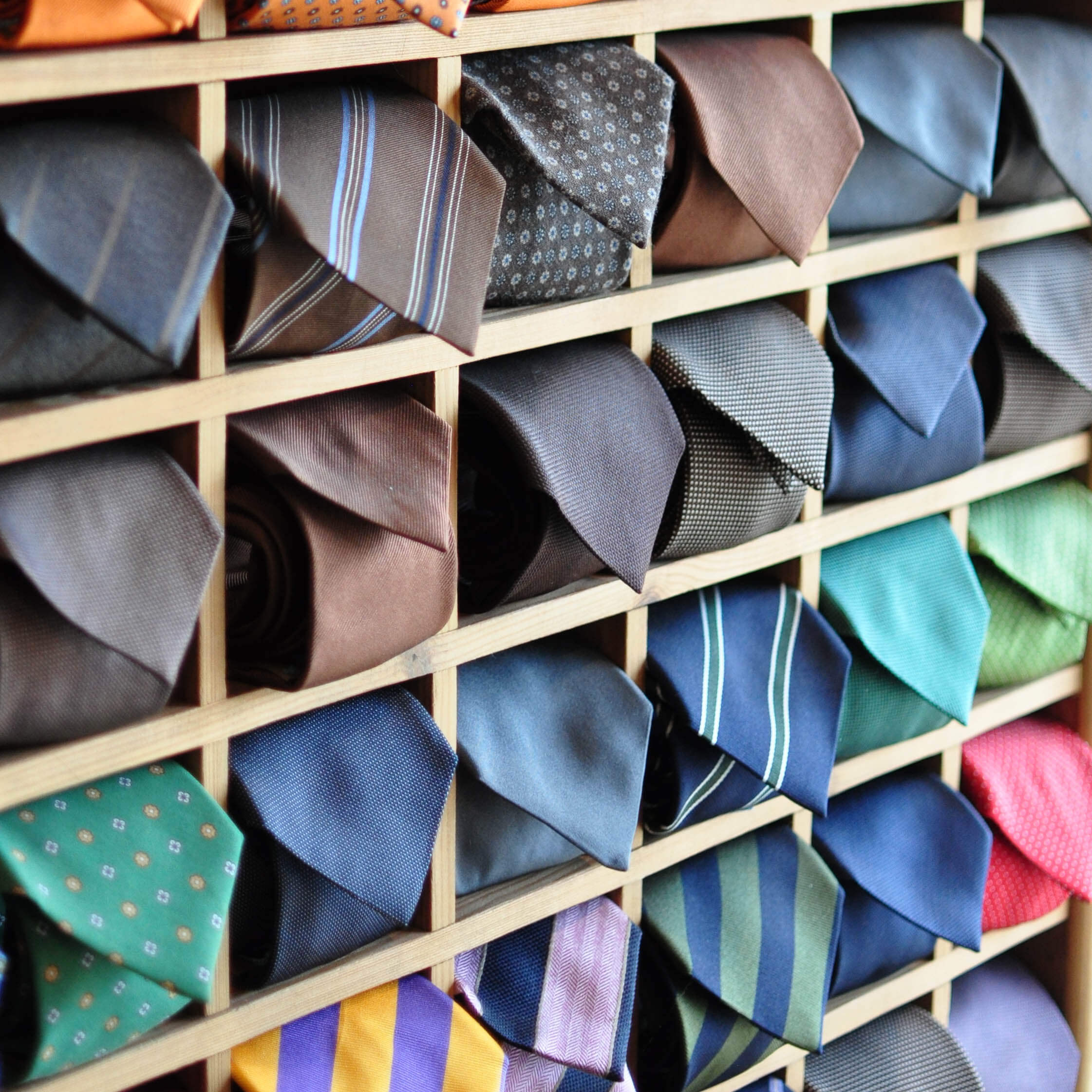 Tie Display in the Harrogate Shop