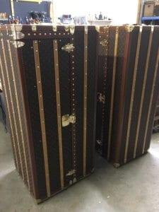 Matching pair of LV wardrobe trunks
